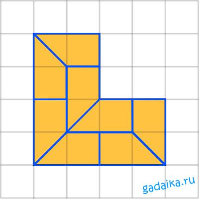 ответ на загадку по геометрии: разделить на 8 кусочков