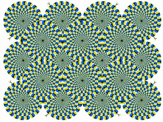 оптическая иллюзия вращения