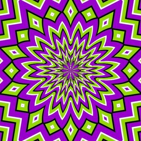 обман зрения - движущийся узор