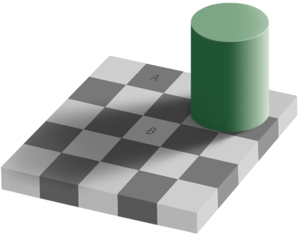 оптическая иллюзия с серым цветом